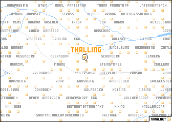 map of Thalling