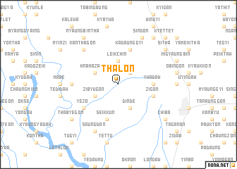 map of Thalon