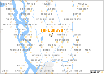 map of Thalunbyu