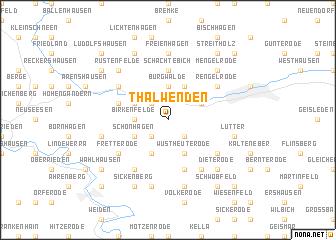 map of Thalwenden