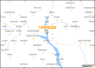 map of Thamadaw