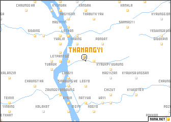 map of Thamangyi