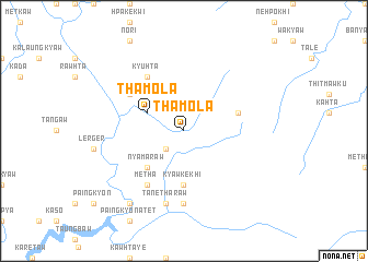 map of Thamola