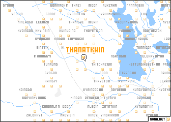 map of Thanatkwin