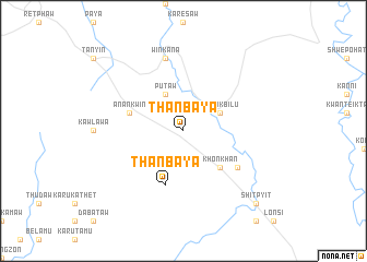 map of Thanbaya