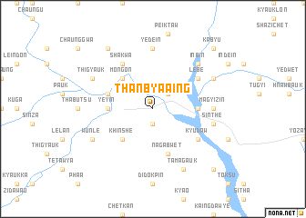 map of Thanbya-aing