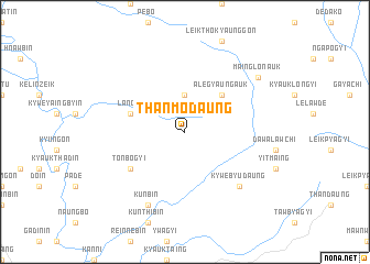 map of Thanmodaung
