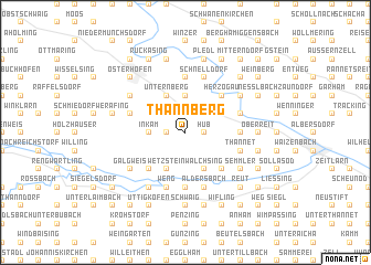 map of Thannberg