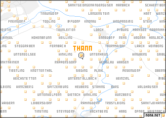 map of Thann