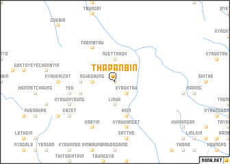 map of Thapanbin
