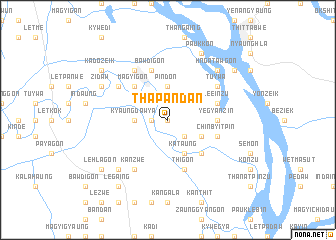 map of Thapandan