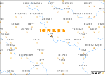 map of Thapangaing