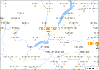 map of Thapangon