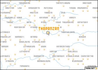 map of Thapanzan