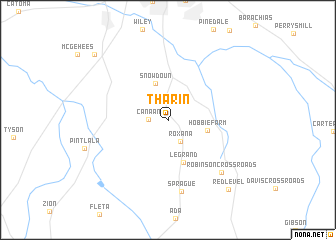 map of Tharin