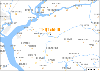 map of Thategwin