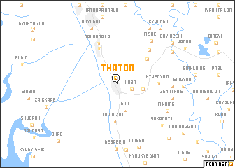 map of Thaton