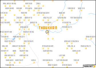 map of Thaukkan