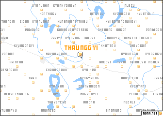 map of Thaunggyi
