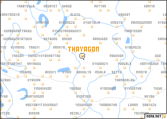 map of Thayagon