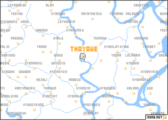map of Thayawe