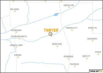 map of Thayer