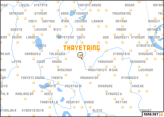 map of Thayet-aing