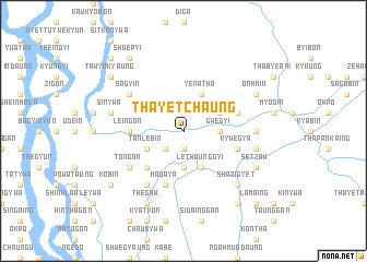 map of Thayetchaung