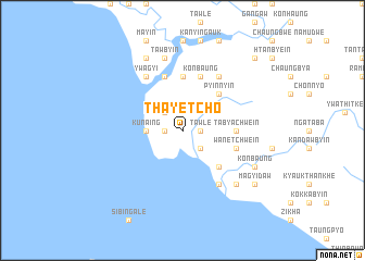 map of Thayetcho