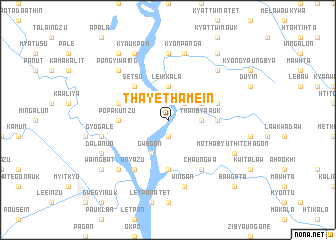 map of Thayèthamein