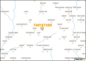 map of Thayetkan