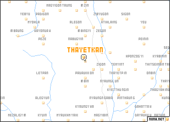 map of Thayetkan