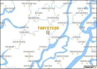map of Thayetkôn