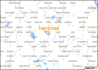map of Thayetkon