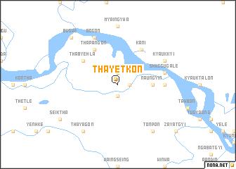 map of Thayetkon