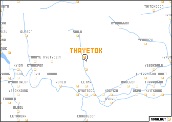 map of Thayetok