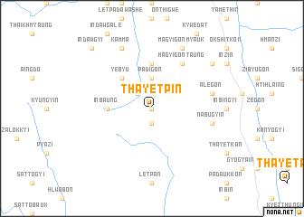 map of Thayetpin