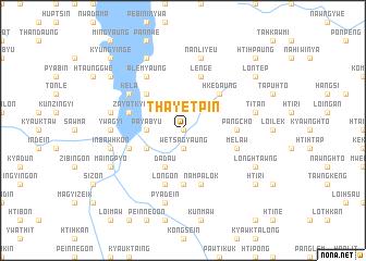 map of Thayetpin