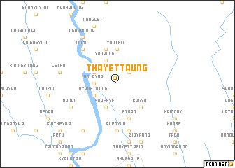 map of Thayettaung