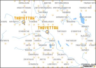 map of Thayettaw