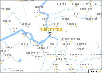 map of Thayettaw