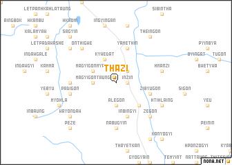 map of Thazi
