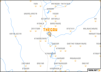map of Thegaw
