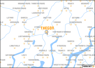 map of Thegon