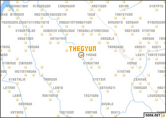 map of Thegyun