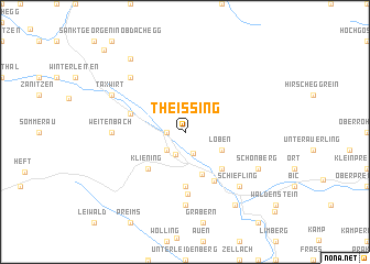 map of Theissing