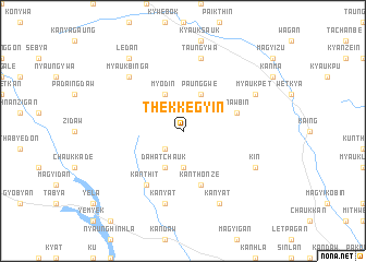 map of Thekkegyin