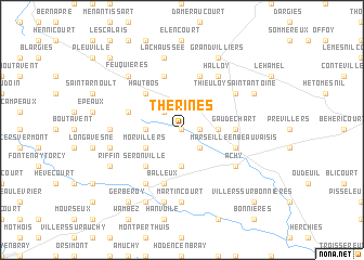 map of Thérines