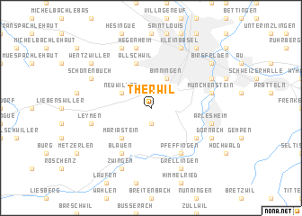map of Therwil
