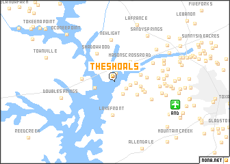 map of The Shoals